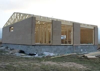 Konštrukcia opláštená drevovláknitou izoláciou Diffuwall 2010