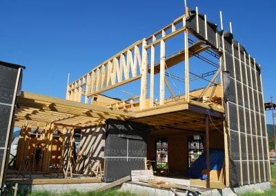 detaily konštrukcií - difúzne otvorená konštrukcia drevodomu