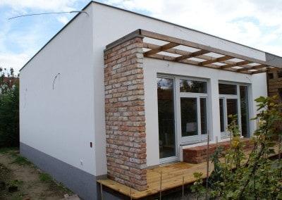 drevostavba ako prístavba k existujúcej drevostavbe