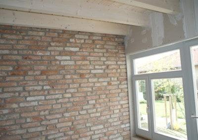 akumulačná stena z plných pálených tehál