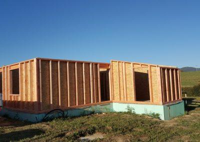 rámová konštrukcia drevostavby