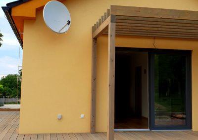 terasa nízkoenergetického pasívneho domu