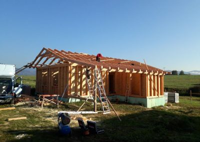 hrubá stavba drevodomu